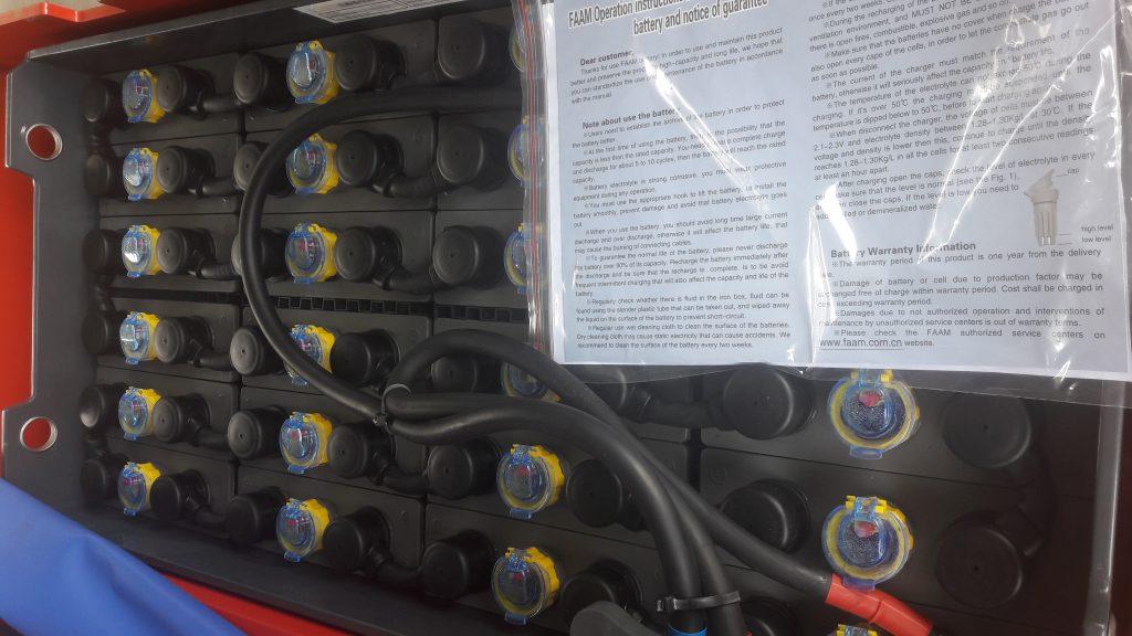 Ắc quy Faam - Ý của xe nâng điện 3 bánh Heli