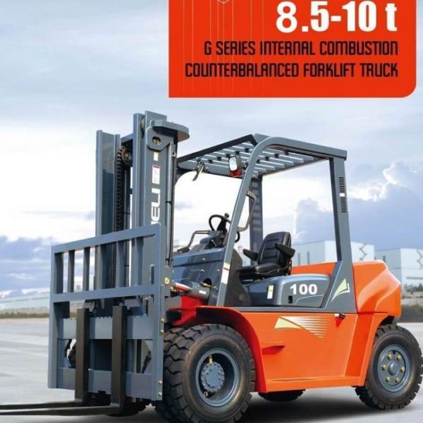 xe nâng chạy động cơ diesel 8.5 -10 tấn Heli