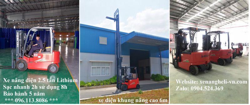 ảnh thực tế xe nâng điện ngồi lái Heli tại Phú Thọ