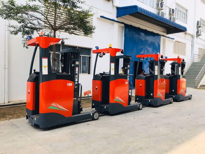 ảnh xe nâng điện reachtruck đứng lái 1.8 tấn Heli tại Phú Thọ