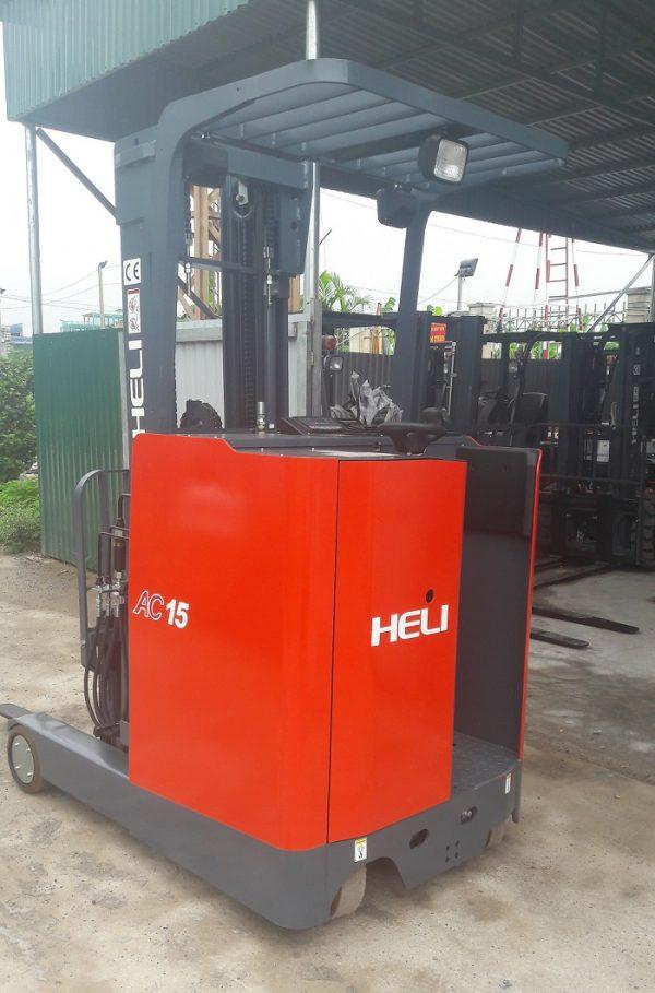 Xe nâng điện đứng lái heli