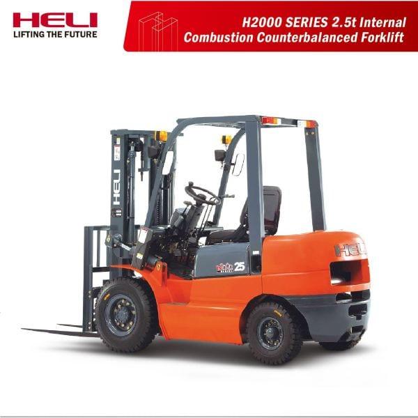 Xe nâng chạy dầu 2.5 tấn Trung Quốc - Heli H2000 Series