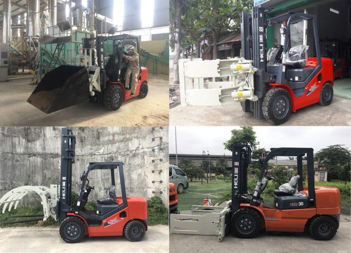 xe nâng lắp bộ công tác ở Tây Ninh