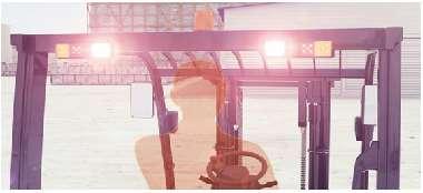 Hệ thống đèn xe nâng điện Heli