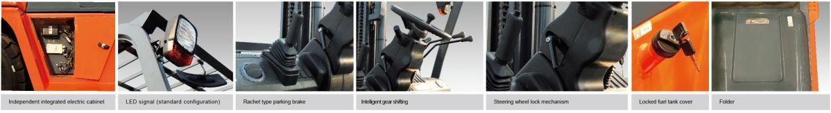 Chi tiết xe nâng dầu 10 tấn G series