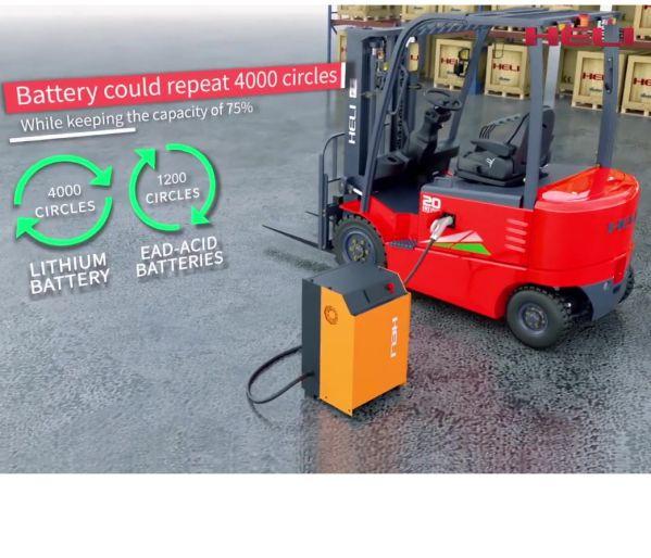ảnh ưu điểm xe nâng điện lithium Heli