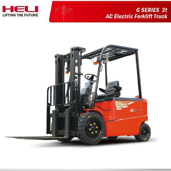 Xe nâng điện ngồi lái 3 tấn Heli