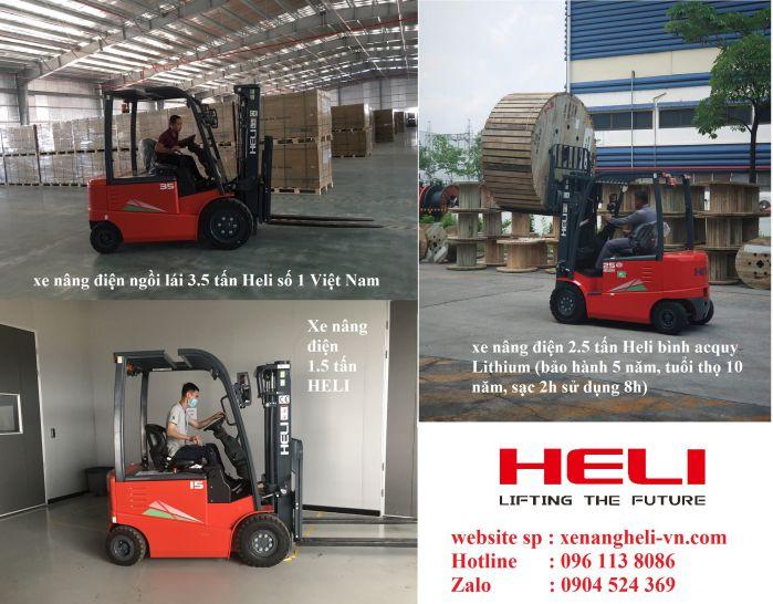 xe nâng điện ngồi lái Heli ở Nam Định
