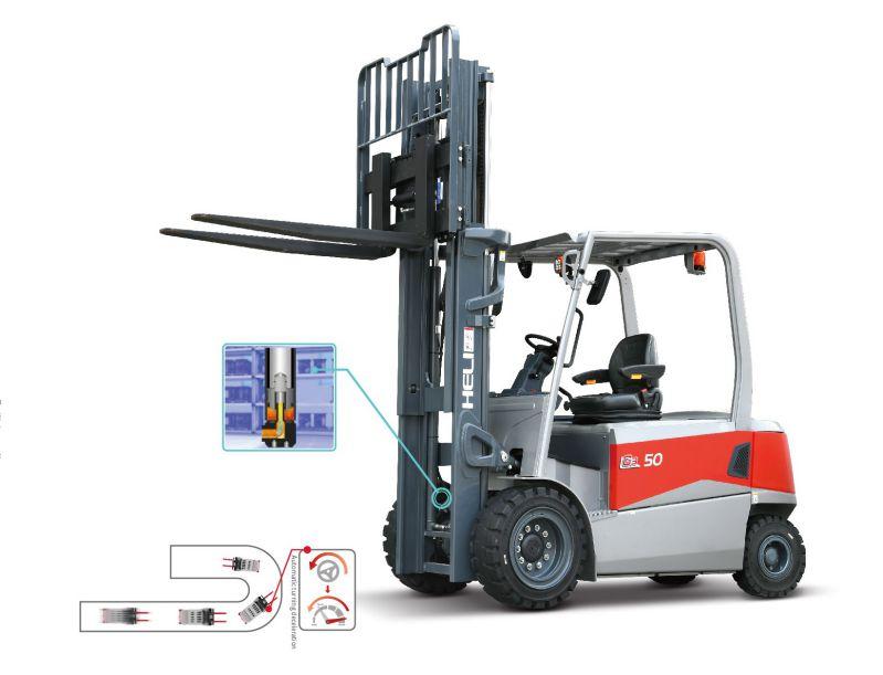 Thiết kế thông minh an toàn cho xe nâng điện 5 tấn Heli